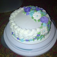 Basket Weave Lesson Wilton Class cake, lesson on basket weave with buttercream and all the flowers are made with royal icing. I was very satisfied with the...