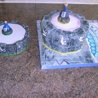 Skylanders Cake I made this for my son's 9th birthday. He loves the Skylanders game. The logo is an edible image and the Elixir of Life is made with...