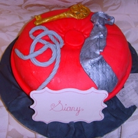 Fifty Shades Of Grey Cake   inspired by a Debbie Brown design, I incorporated a tie, torn-up contract, rope and key