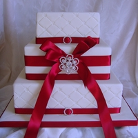 Ivory And Claret Stacked With Bow And Brooch