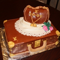 The Suit Case Cake