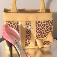 Leopard Purse And Gumpaste Shoe   Leopard purse and gumpaste shoe
