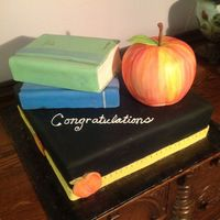 Teacher Of The Year Cake In Fondant Teacher of the year cake in fondant.