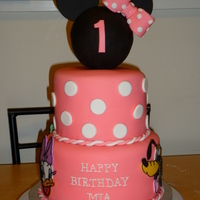 This Was For A Client Who Had Requested A Minnie Mouse Theme Cake With Her Little Friends The Client Also Requested A Marbled Cake Covered... This was for a client who had requested a Minnie mouse theme cake with her little friends. The client also requested a marbled cake covered...