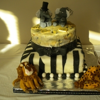 Zoo Animal Bridal Shower Cake