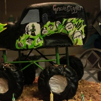 Grave Digger Colors were glow in the dark
