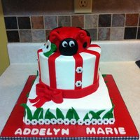 Laby Bug Shower Cake