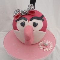 Hot Pink Angry Bird All edible