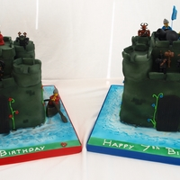 Medieval Lego Castles Made for two special twin boys