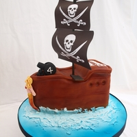 Pirate Ship All edible apart from the sails :-)