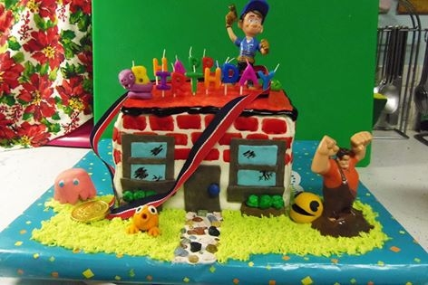 I'm Gonna Wreck It Wreck-It Ralph birthday cake with Fix-It Felix and friends. The two main characters are toys, but all the little accents are MMF or...