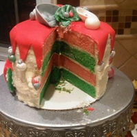 Christmas Cake I got this cake idea from Darla from bakingdom.com. Her's is much prettier. The cake is eggnog cake with eggnog buttercream, all made...