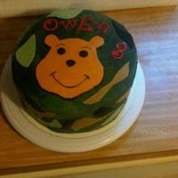 Winnie The Pooh Camo Cake This was for a friend's 8 year old son who LOVES Pooh. It was a strange request and I wasn't sure how it would turn out. It...