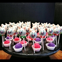 Kitty Cat Cake Pops And Yarn Balls