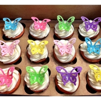 Butterfly Cupcakes I used my Cricut Cake machine to cut out the Fondant Butterflies