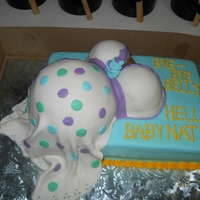 1St Belly Cake Cake is yellow with strawberry butterceam, covered in fondant. I loved making this cake. It was for my sister's baby shower. I'm...