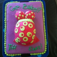 Pregnant Belly This was my first attempt at the pregnant belly cake. I could not have been happier. The cake is chocolate chip covered with chocolate...
