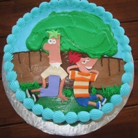 Phineas And Ferb   buttercream icing with fondant picture