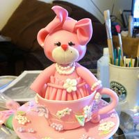 "Baby Bear Cake Topper I was asked to duplicate this lovely lil bear from a picture sent to me. The creation originates from ""Sugar High LLC"". Amazing..."