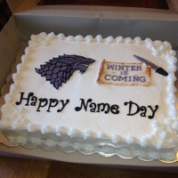 Game Of Thrones Birthday Cake Game of thrones birthday cake. Happy Name Day.