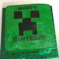 Birthday Creeper Cake From Minecraft Game For A Boy Who Loves To Play That Game Birthday creeper cake from Minecraft Game for a boy who loves to play that game.