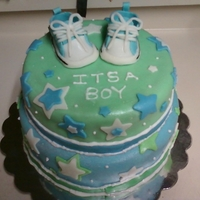 It's A Boy This was my first cake that i made.
