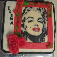 Marilyn Monroe Cake The Marilyn Monroe Picture Is Made Of Chocolate And The Cake Is Pound Cake With Strawberry Inside Made The Cake For M Marilyn Monroe cake: The Marilyn Monroe Picture is made of Chocolate and the cake is pound cake with strawberry inside. Made the cake for...