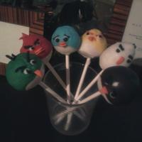 Angry Decorator! Angry birds cake pops that took 12 hours! 4 of each character