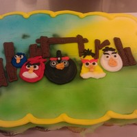 Angry Birds Contest Angry birds cupcake pull-apart with the birds and schemes hand drawn