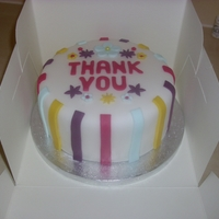 Thank You Cake   This is a thank you cake made for my sons teachers :)