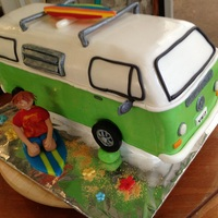 2013 03 Westfalia Pour Charles (Westfalia For Charles)  Final version of the cake, with no tinted windows, black borders instead and a white border all around the van. When I took the cake out of...