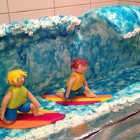 2013 03 Vagues Et Surf Pour Alex Et Charlot (Waves And Surf For Alex And Charlot)   My first modeling chocolate people!