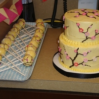 Yellow Dogwood Lemon cake, lemon curd filling.