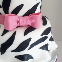 Skirted Zebra Print Birthday Cake