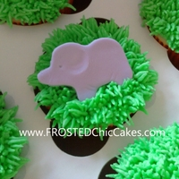 Safari Animal Baby Shower Cupcakes