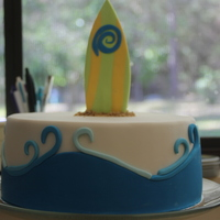 Surf Board my baby boys birthday cake