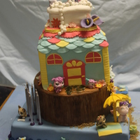 Pet Shop Cake   4 tier pet shop cake