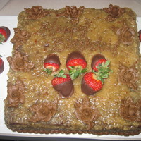 German Chocolate With Dipped Strawberries