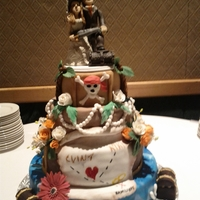 Pirate Themed Wedding Cake