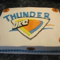 Thunder Up WASC cake with buttercream icing and mmf accents