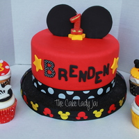 Mickey Mouse Mickey Mouse inspired cake for a boy's 1st birthday :)