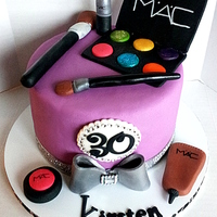 Mac Makeup Cake blinged out makeup cake for an old school friend :-)