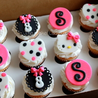 Hello Kitty Birthday Cupcakes   Hello Kitty cupcakes for my great niece.