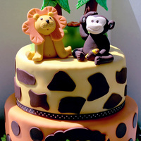 Funfari Babyshower   Funfari (safari) themed baby shower cake made to match invite :)