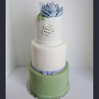 Spring Wedding Cake This cake was based in the Simple Chevron by ThreeLittleBlackbirds. I loved the design so much, I decided to see if I could copy it. Mine&#...