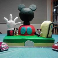 Mickey Mouse Clubhouse   Made this 3D cake for my niece's 2nd birthday. Could be cleaner, but it turned out so cute!