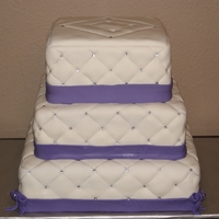 Diamond Quillted Cake