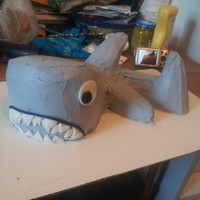 Shark Party Cake! My first attempt at a 3D cake, this is the shark I made for my son's 5th birthday party! I used a moist cake recipe but if I do this...