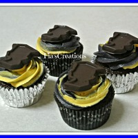 Graduation Cupcakes Chocolate Cupcakes filled with chocolate mousse. TFL!