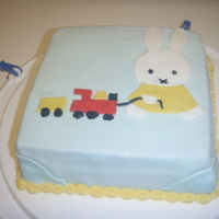 Miffy Cake Miffy cake with BC and fondant. my first puzzel cake.